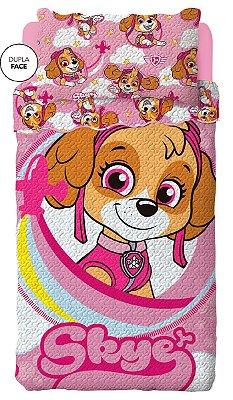 Colcha Dupla Face Infantil Patrulha Canina Rosa Lepper