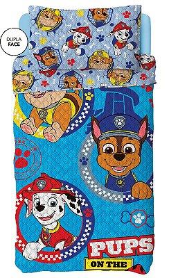 Colcha Dupla Face Infantil Patrulha Canina Azul Lepper