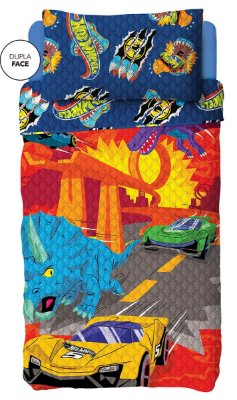 Colcha Dupla Face Infantil Hot Wheels Lepper