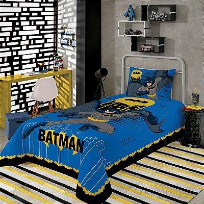 Jogo de Cama Infantil Batman Com 2 Peças Lepper