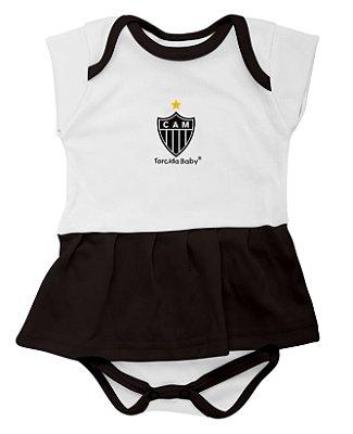 Body Bebê Vestido Atlético MG - Torcida Baby
