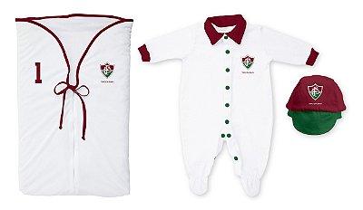 Kit Bebê Saída Maternidade Fluminense Branco - Torcida Baby