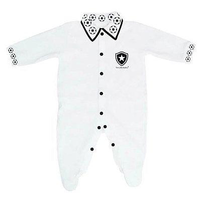 Macacão Bebê Botafogo Longo Bolinhas - Torcida Baby