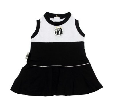 Vestido Bebê Santos Regata Oficial