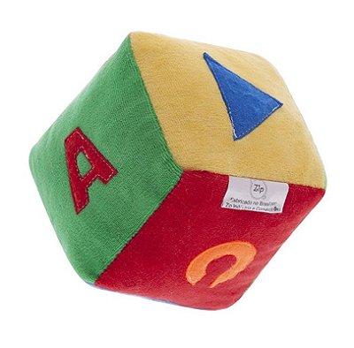 Cubo De Pelúcia Para Bebê Colorido Zip