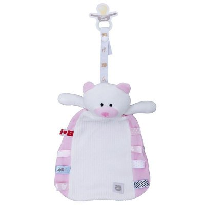 Naninha Bebê Tags Ursinho Rosa Zip