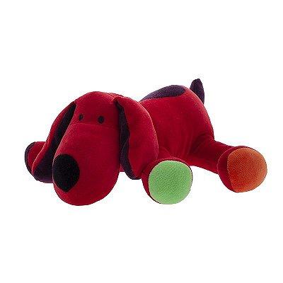 Cachorro De Pelúcia Greg Vermelho Zip