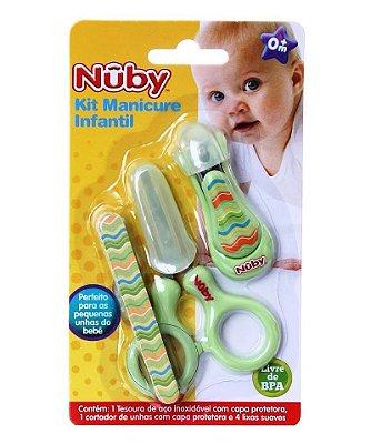 Kit Manicure Infantil Com 6 Pçs Verde Nuby