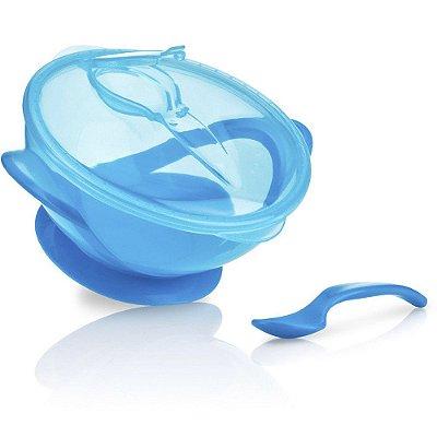 Tigela Infantil Com Ventosa Azul Nuby