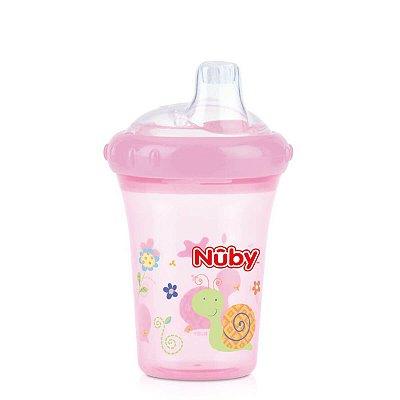 Copo Bebê Com Bico De Silicone Rosa Nuby