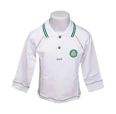 Camisa Infantil Palmeiras Polo Manga Longa Oficial