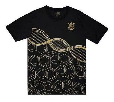 Camiseta Infantil Corinthians Preta DNA Oficial