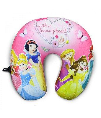 Almofada de Pescoço Rosa Princesas da Disney