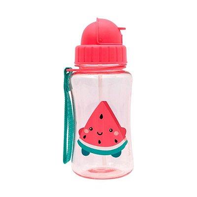 Garrafinha Infantil Com Canudo Frutti Melancia Buba