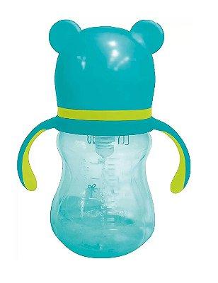 Copo Infantil Com Alça Urso Azul 180ml Buba
