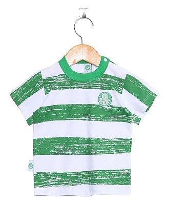 Camiseta Bebê Palmeiras Listras Revedor