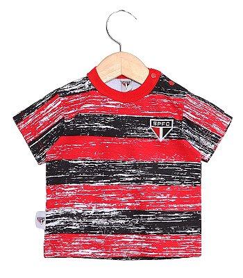 Camiseta Bebê São Paulo Listras Oficial