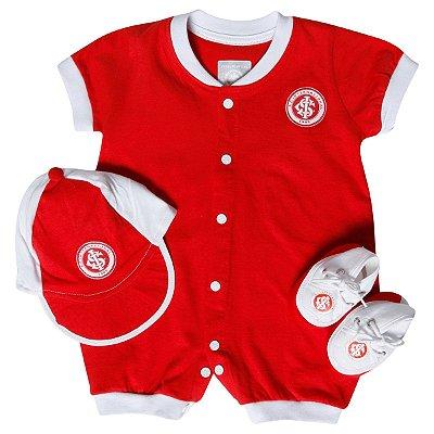 Kit Macacão Bebê Internacional 3 Peças Oficial