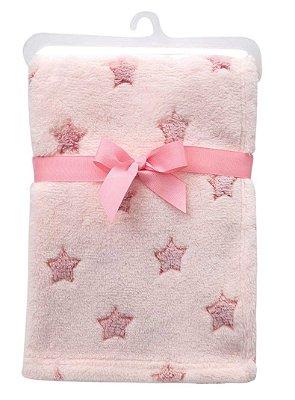 Manta Bebê Em Soft Estrelinhas Rosa Buba