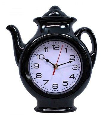 Relógio de Parede Preto Bule 29x24.5cm