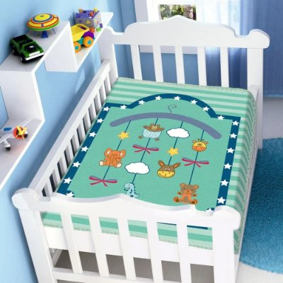 Cobertor Infantil Raschel Mobile 0,90 x 1,10m Jolitex