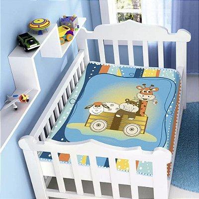 Cobertor Infantil Raschel Bichinhos 0,90 x 1,10m Jolitex