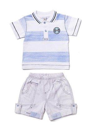 Conjunto Grêmio Bebê Polo e Bermuda Revedor