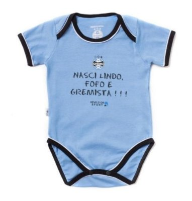 "Body Grêmio Com Frase ""Nasci Gremista"" Revedor"