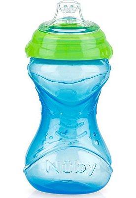 Copo Infantil Com Bico de Silicone Nuby Azul 300ml