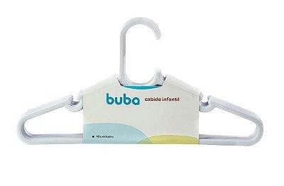 Kit Com 10 Cabides Infantil Branco Buba