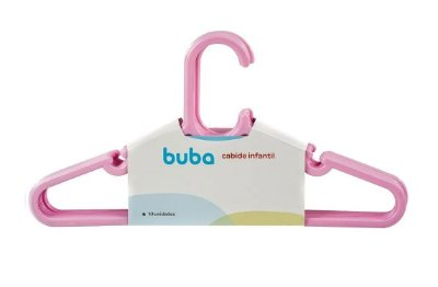 Kit Com 10 Cabides Infantil Rosa Buba