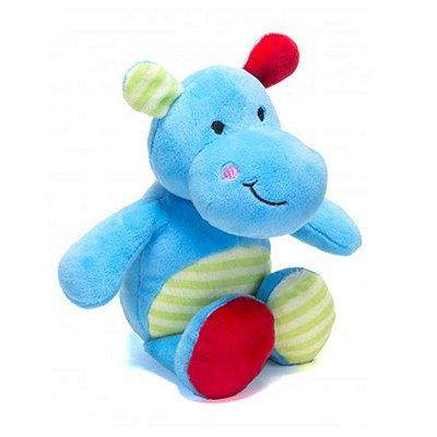 Pelúcia Bebê Com Chocalho Hipopótamo Unik
