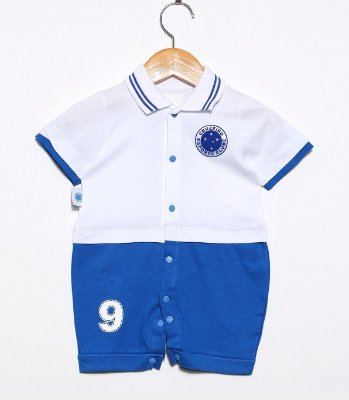 Macacão Bebê Cruzeiro Uniforme Oficial