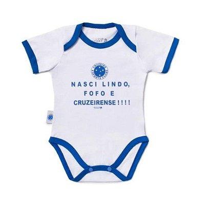 """Body Cruzeiro """"Nasci Torcedor"""" Revedor"""