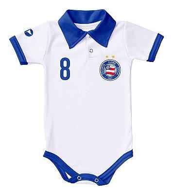 Body Bahia Polo Branco Torcida Baby