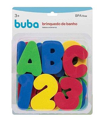 Brinquedo de Banho Letras e Números 36 Pçs Buba