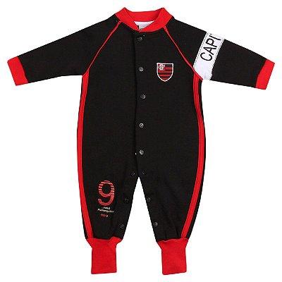 Macacão Bebê Flamengo Longo Capitão Oficial