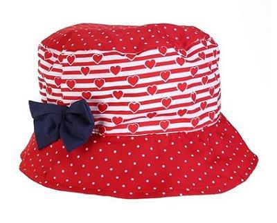 Chapéu Infantil Coração Vermelho Pimpolho