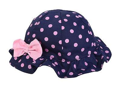 Chapéu Infantil  Poa Azul Marinho - Pimpolho