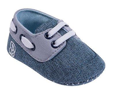 Sapatinho Bebê Jeans Azul - Pimpolho
