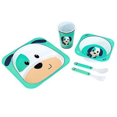 Kit Alimentação Para Bebês 5 Pçs Cachorrinho Unik