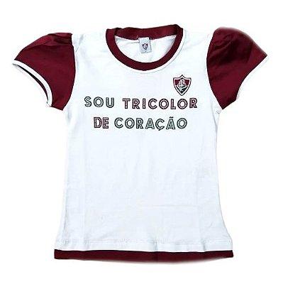 Camiseta Baby Look Infantil Fluminense Oficial