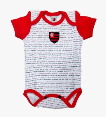 Body Flamengo Estampa do Hino Oficial