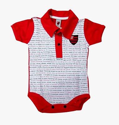 Body Polo Flamengo Estampa do Hino Oficial