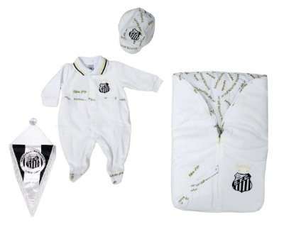 Kit Maternidade Plush Santos com Saco de Dormir Oficial