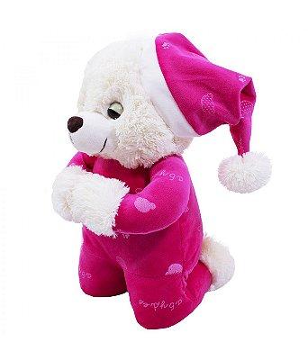 Ursinha Pelúcia Que Reza Pijama Pink 30cm