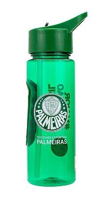 Garrafa Plástico Com Canudo 700ml Palmeiras Oficial