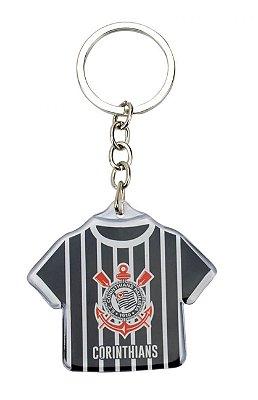 Chaveiro de Metal Camisa Futebol 5cm Corinthians Oficial