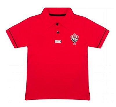 Camisa Polo Infantil Vitória-BA Vermelha Oficial
