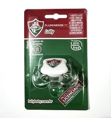 Chupeta Fluminense Silicone Orto S2 Transparente Lolly